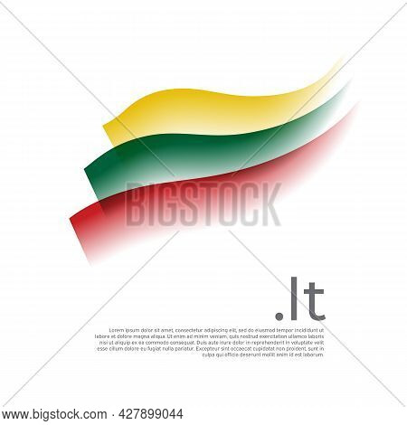 Lithuania Flag Watercolor. Stripes Colors Of Lithuanian Flag On White Background. Vector Stylized De