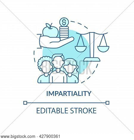 Impartiality And Social Relations Concept Icon. Humanitarian Aid And Generosity In Emergency Abstrac