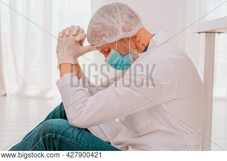 Doctor Is Tired And Stressed Due To Covid-19 Virus Pandemic