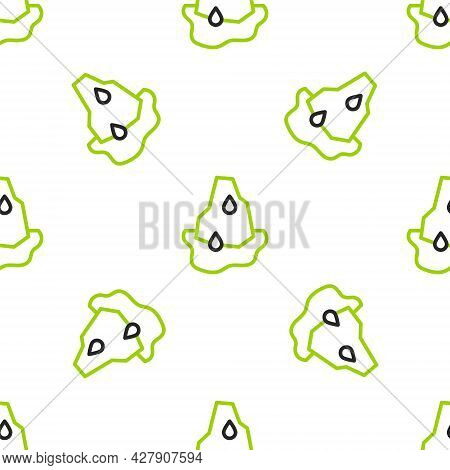 Line Glacier Melting Icon Isolated Seamless Pattern On White Background. Vector