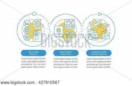 Internship Abroad Demands Vector Infographic Template. Resume Update Presentation Outline Design Ele