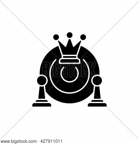 Common Strategy Black Glyph Icon. Collective Purposes And Goals. Plan For Business Development. Team