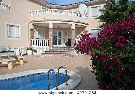 Spanish luxury villa.