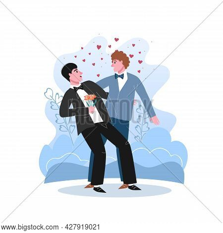 Unconventional Wedding. Gay, Bisexual And Transgender People Marriage.