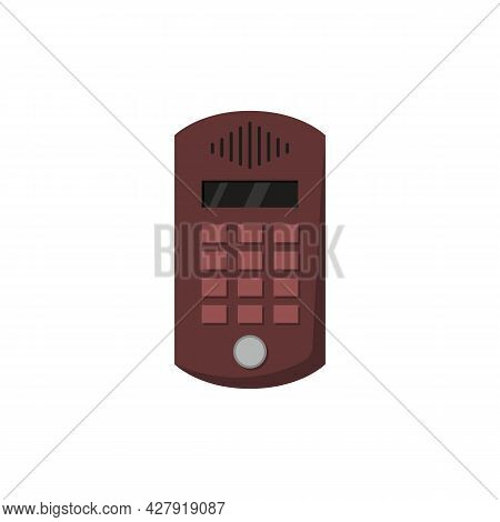 Outdoor Door Intercom With Microphone And Bell Buttons With Numbers.