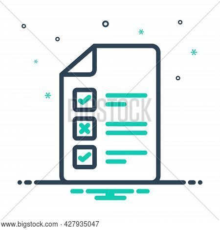 Mix Icon For Test Approval Evaluation Experiment Inquiry Inspection Checkbox Paper