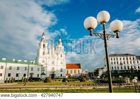 Minsk - Oct 1: The Cathedral Of Holy Spirit In Minsk - The Main Orthodox Church Of Belarus And Symbo