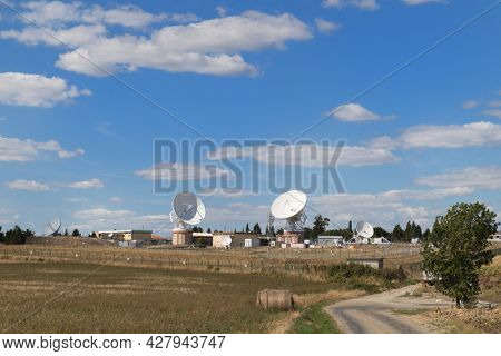 Satellites in French landscape in the Aude