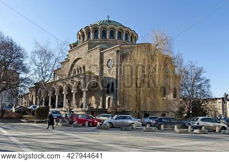 Sofia, Bulgaria -  March 10, 2011: View Of The Eastern Orthodox Church