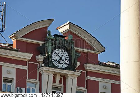 Sofia, Bulgaria -  August 15, 2012: Old Building From The Beginning Of The 20th Century, Built By Th