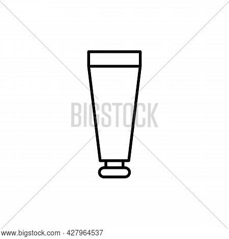 Pharmaceutical Cream Tube Cosmetic Black Line Icon. Simple Tube Badge. Trendy Flat Isolated Symbol S