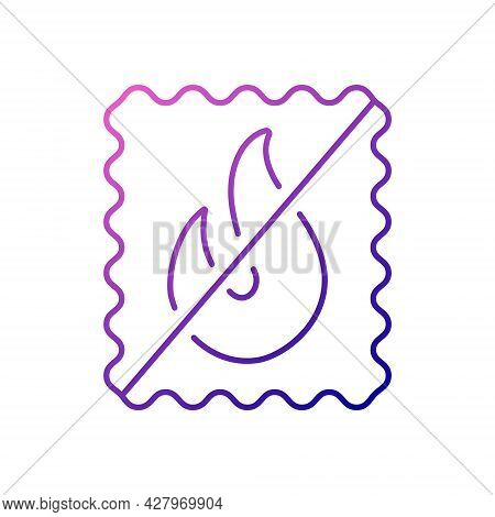 Fireproof Material Outline Icon. Fabric Feature. Textile Industry. Fiber Type. Gradient Symbol. Isol