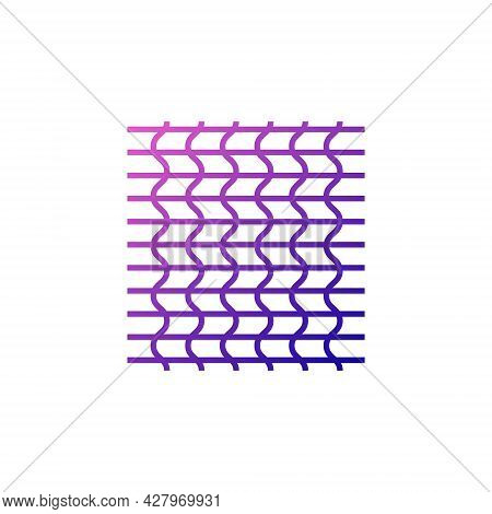 Fiber Weaving Outline Icon. Fabric Feature. Knitting Idea. Material Quality. Fiber Type. Gradient Sy