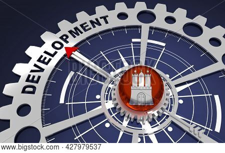 Global Business And Economic Solutions Concept. 3d Illustration