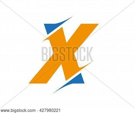 X Sliced Letter Logo. Modern X Letter Logo With Slash Concept. Initial Monogram Letter X Logo Design