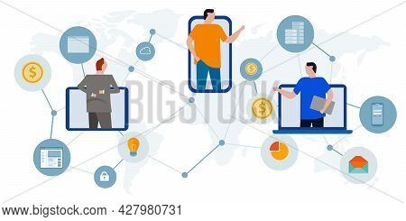 Gig Freelance Economy Working Across The World Expertise Get Job Earning Money Worldwide Using Onlin