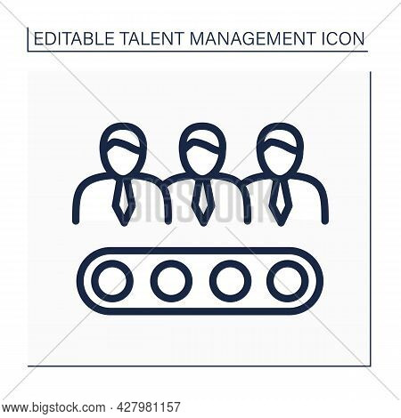 Candidate Pipelines Line Icon. Qualified People Interested In Learning About Job Opportunities. Tale