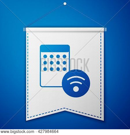 Blue Air Humidifier Icon Isolated On Blue Background. Portable Electric Home Appliance, Home Air Pur