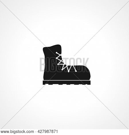Boots Icon. Boots Simple Vector Icon. Boot Isolated Icon.