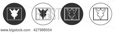 Black Rorschach Test Icon Isolated On White Background. Psycho Diagnostic Inkblot Test Rorschach. Ci