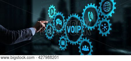 Voip Voice Over Ip. The Concept Of Voice Over Internet Protocol 2021