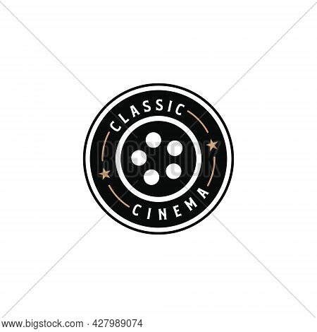 Classic Cinema Vintage Retro Hipster Silhouette Logo Designs Elements. Logo Can Be Used For Icon, Br