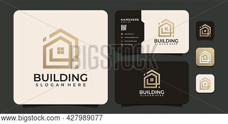 Modern Architecture Building Logo Design For Apartment Industry Mortgage Company. Logo Can Be Used F