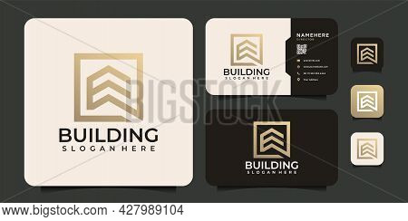 Modern Elegant Home Building Real Estate Logo Vector Design Elements. Logo Can Be Used For Icon, Bra