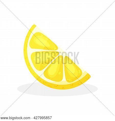 Lemon Slice. Fresh Citru, Half Sliced Lemon And Chopped Lemon. Cut Lemons Fruit Slice Juice Or Vitam