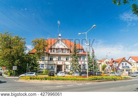 Bogatynia, Poland - June 2, 2021: Offices Of City Council Of Bogatynia And Community Of Bogatynia.