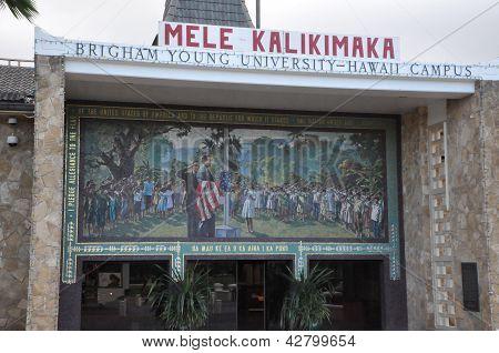 Polynesian Cultural Center in Laie, Oahu, Hawaii