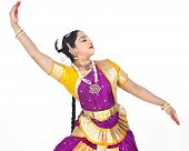 attractive female Bharathanatyam dancer of Tamil nadu in South India poster