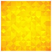 Triangle and Square pattern in yellow and orange colors poster