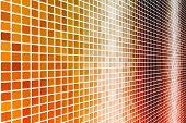 Futuristic Web Cyber Data Grid Color Background poster