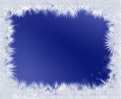 Crystal stars frame on blue background with copy space poster