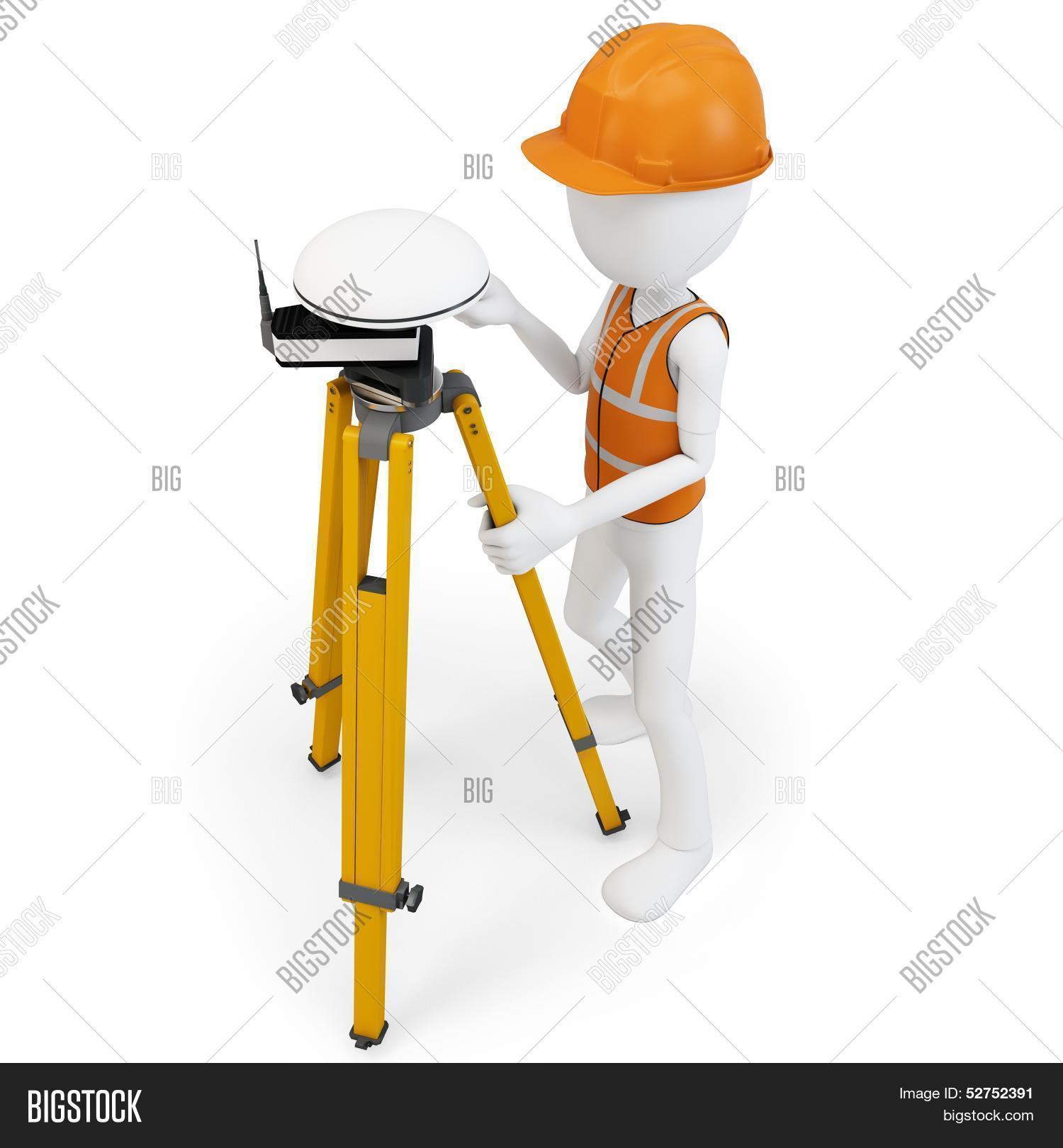 3D Man Surveyor Gps Image & Photo (Free Trial) | Bigstock