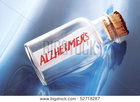 Medical concept with a message in a bottle saying