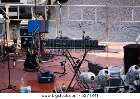 Setup Of A Concert Stage