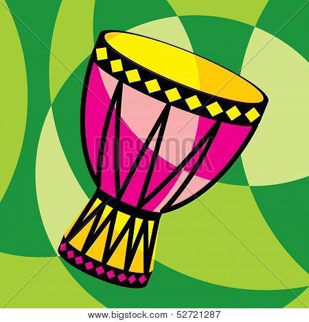 Color tarbuka drum