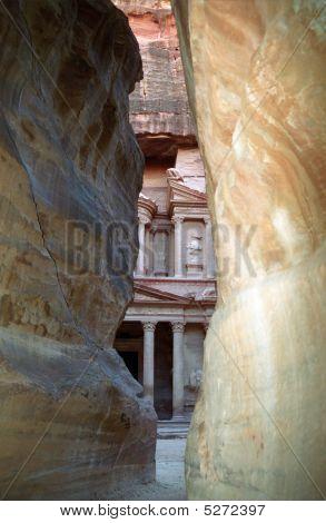 The Last Glance At The Treasury, Petra, Jordan