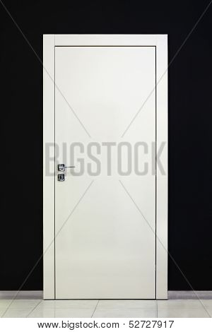 Modern Closed White Door