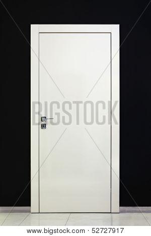Modern Closed White Door