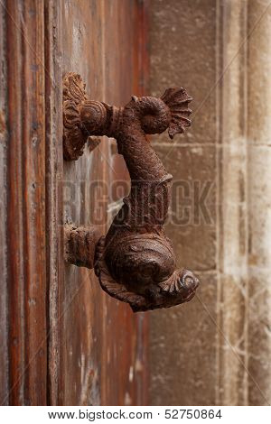 Old Doorhandle In The Form Of A Fish