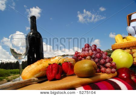 Fruit And Wine Picnic