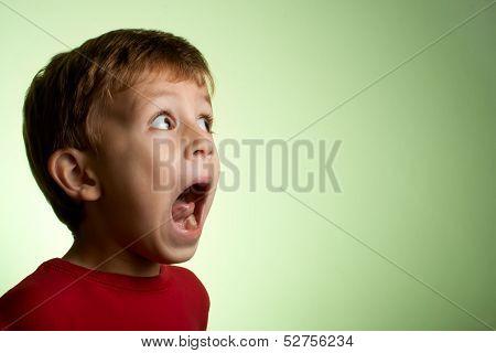 Little Boy Looking Scared