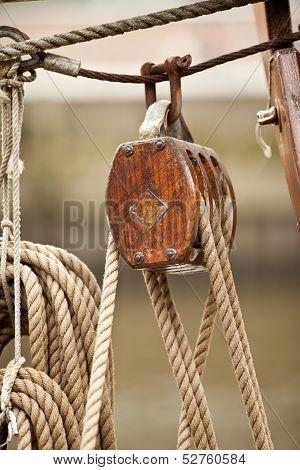 Wooden Rigging Block