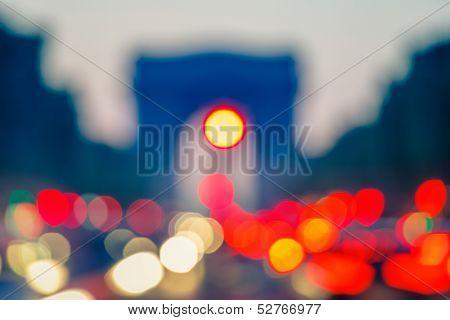 Out of focus background: Arc de Triomphe, Paris