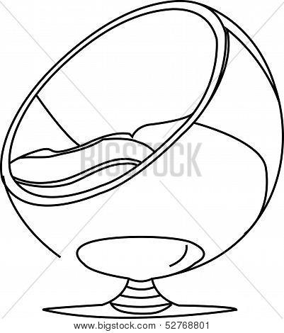 Interior design- egg chair