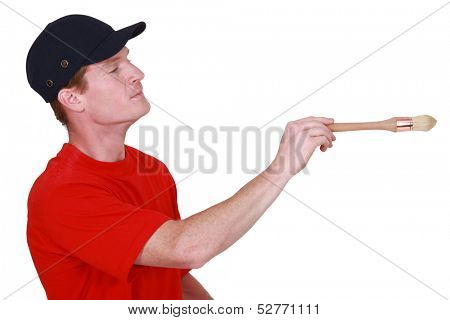 Painter with brush