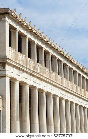 Stoa Of Attalos, Ancient Agora In Athens